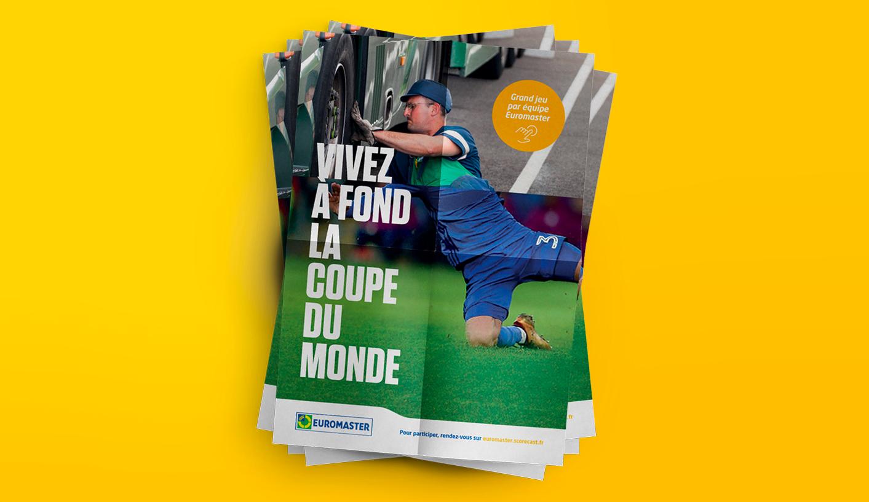 Affiche communication interne pour la coupe du monde 2018