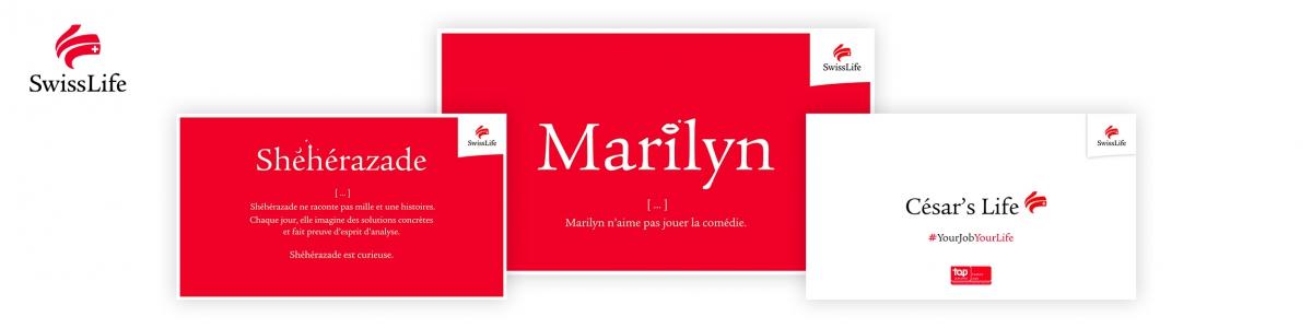 Visuels de la campagne marque employeur Swiss Life